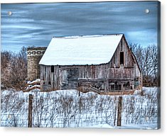Old Barn Acrylic Print by David  Parry