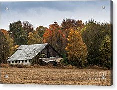 Acrylic Print featuring the photograph Old Barn by Debbie Green