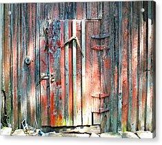Old Barn Door 2 Acrylic Print