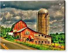 Acrylic Print featuring the photograph Old Barn by Ed Roberts