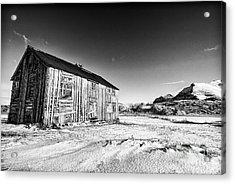 Old Barn Fredvang Acrylic Print by Janet Burdon