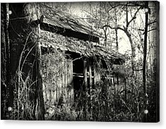 Old Barn In Black And White Acrylic Print