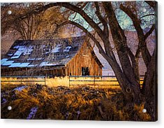Old Barn In Sparks Acrylic Print