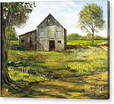 Old Barn Acrylic Print by Lee Piper