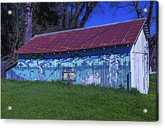 Old Barn Mural Acrylic Print by Garry Gay
