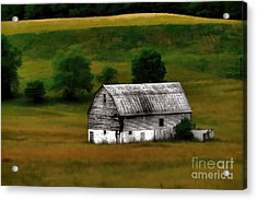 Acrylic Print featuring the photograph Old Barn Near Buckhannon by Dan Friend