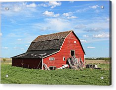Old Barn Acrylic Print by Ryan Crouse
