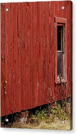Acrylic Print featuring the photograph Old Barn Window by Debbie Karnes