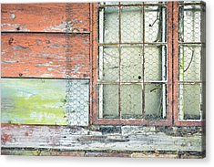 Old Barn Window Acrylic Print by Tom Gowanlock