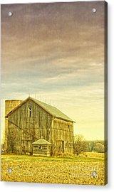 Old Barn With Silo Acrylic Print by Birgit Tyrrell