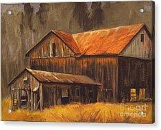 Old Barns Acrylic Print by Carol Hart
