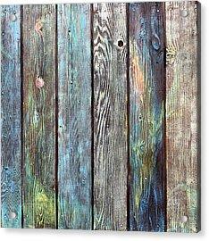 Old Barnyard Gate Acrylic Print by Asha Carolyn Young