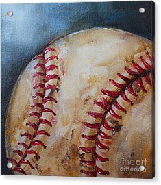 Old Baseball Acrylic Print by Kristine Kainer