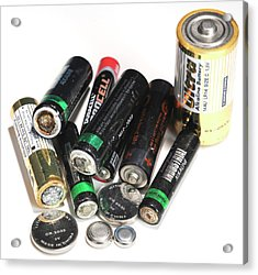 Old Batteries Acrylic Print