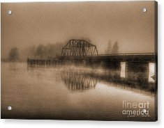 Old Berkley Dighton Bridge Acrylic Print
