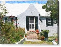 Acrylic Print featuring the photograph Old Bermuda Home by Verena Matthew