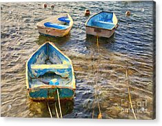Acrylic Print featuring the photograph Old Bermuda Rowboats by Verena Matthew