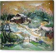 Old Bethpage Village Restoration Acrylic Print by Mary Spyridon Thompson