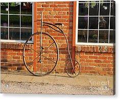 Old Bike Acrylic Print by Mary Carol Story