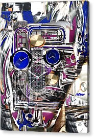 Acrylic Print featuring the digital art Old Blue Eyes by Seth Weaver