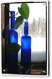 Old Blue Acrylic Print by Michelle Simard