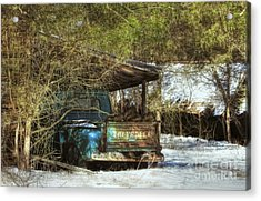 Old Blue Tucked Away Acrylic Print