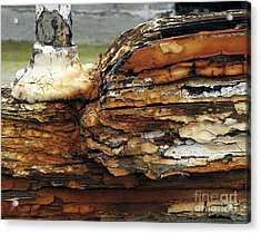 Acrylic Print featuring the photograph Old Boat by Inge Riis McDonald