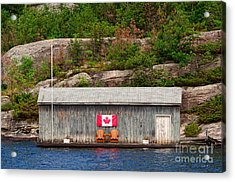 Old Boathouse With Two Muskoka Chairs Acrylic Print