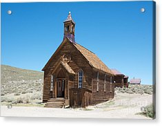 Acrylic Print featuring the photograph Old Bodie Church by Vinnie Oakes