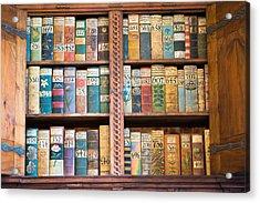 Old Books In Prague Acrylic Print by Matthias Hauser