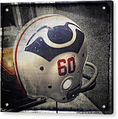 Old Boston Patriots Football Helmet Acrylic Print