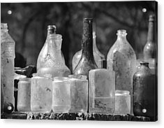 Old Bottles Two Acrylic Print by Sarah Klessig
