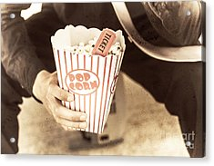 Old Box Of Retro Popcorn Acrylic Print by Jorgo Photography - Wall Art Gallery