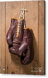 Old Boxing Gloves Acrylic Print by Danny Smythe