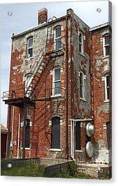 Old Brick Building In Downtown Montezuma Iowa - 03 Acrylic Print by Gregory Dyer