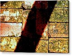 Old Brick Road Acrylic Print by William Tucker