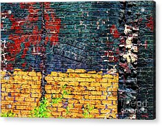 Old Brick Wall Acrylic Print by Jim Wright