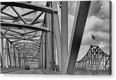 Acrylic Print featuring the photograph Old Bridge New Bridge by Janette Boyd