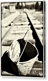 Old Bucket Acrylic Print by Craig Brown