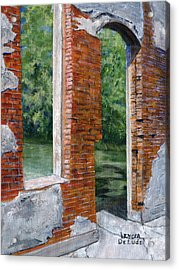 Old Building In Pleasant Hill Louisiana Acrylic Print