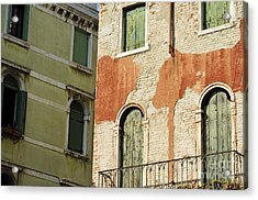Old Buildings Facades Acrylic Print by Sami Sarkis
