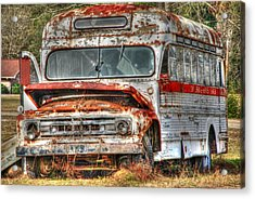 Old Bus 01 Acrylic Print by Andy Savelle