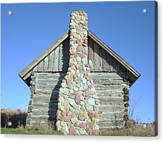 Acrylic Print featuring the photograph Old Cabin Chimney by J L Zarek