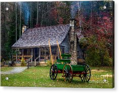 Old Cabin Acrylic Print