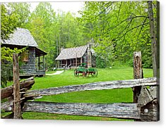 Old Cabins At The Cradle Of Forestry Acrylic Print
