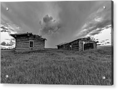 Old Cabins Resting Acrylic Print by Stellina Giannitsi