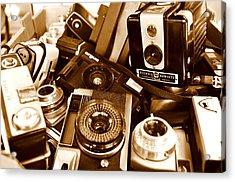 Old Cameras Acrylic Print by Marina Slusar