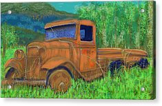 Old Canadian Truck Acrylic Print by Hidden  Mountain