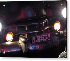 Old Car At Night. Acrylic Print