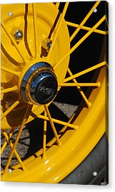 Old Car Wheel Acrylic Print by T C Brown